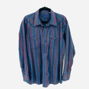 Panhandle Slim Pearl Snap Shirt Size Large